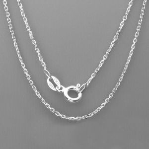 "Jewelry - 16"" Italian Sterling Silver Cable Link Chain"